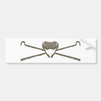 Skull and Crosshooks Bumper Sticker
