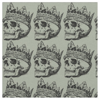 Skull and crown fabric