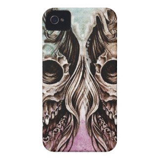skull and dragons, Tattoo sketch, handmade design Case-Mate iPhone 4 Case