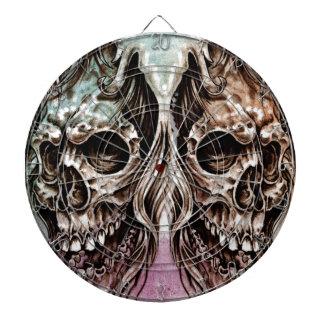 skull and dragons, Tattoo sketch, handmade design Dartboard