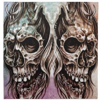 skull and dragons, Tattoo sketch, handmade design Napkin