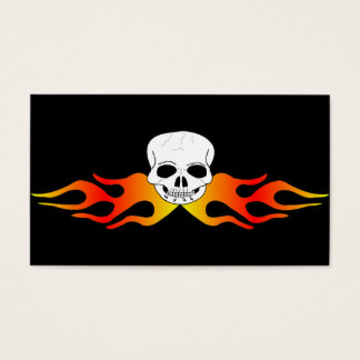Skull And Flames Business Card
