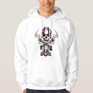 Skull and flames hoodie