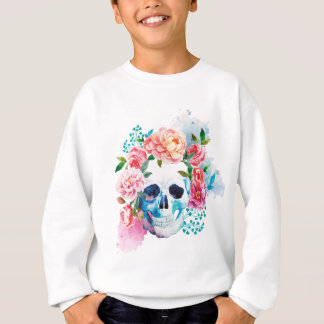 SKULL AND FLOWERS SWEATSHIRT