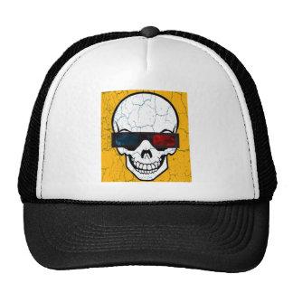 Skull and glasses 3d mesh hats