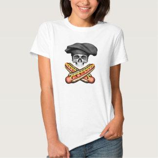 Skull and Hotdogs v3 Tees