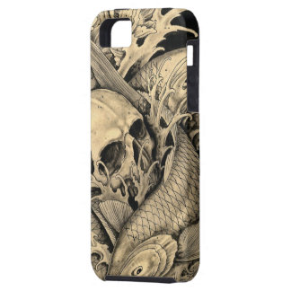 Skull and Koi Tough iPhone 5 Case