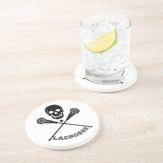 Skull and Lacrosse Sticks Coaster