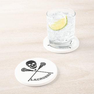 Skull and Lacrosse Sticks Drink Coaster