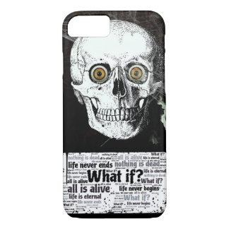 Skull and Life Never Ends iPhone 7 case