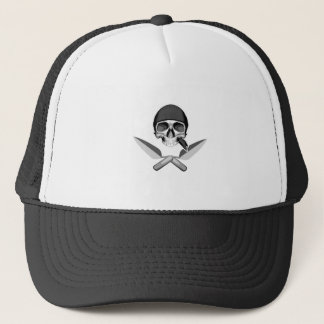Skull and Mason's Trowels Trucker Hat