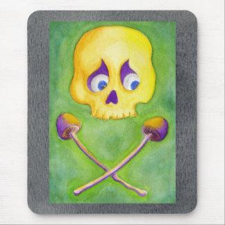 Skull and Mushroom Mouse Pad