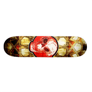 skull and oriental pattern 20.6 cm skateboard deck