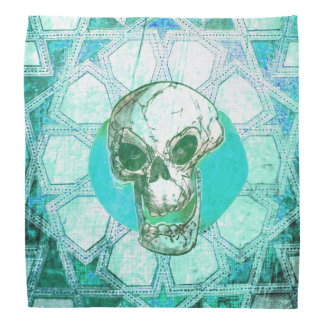 skull and oriental pattern bandana