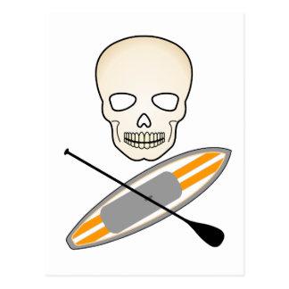 Skull and Paddleboard Postcard