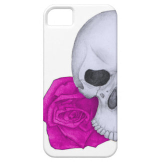 Skull and Pink Roses Case For The iPhone 5