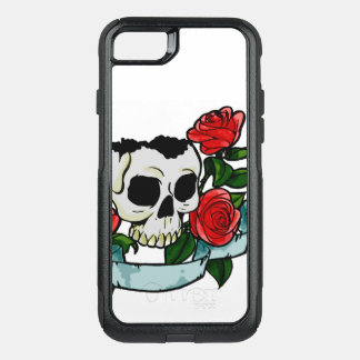 Skull and red roses phone case cover
