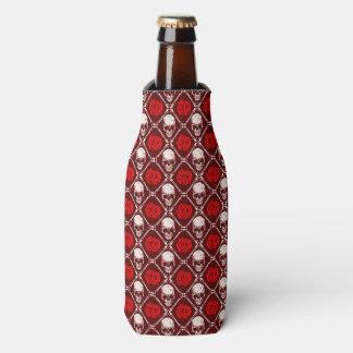 skull and roses bottle cooler