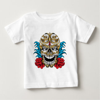 SKULL AND ROSES by THE ART DUMP Baby T-Shirt