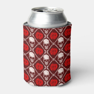 skull and roses can cooler