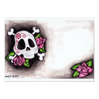 Skull and Roses Card