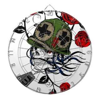 Skull And Roses Dart Board