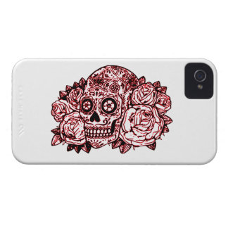 Skull and Roses iPhone 4 Case-Mate Case