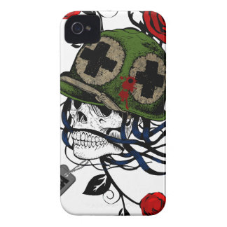 Skull And Roses iPhone 4 Covers