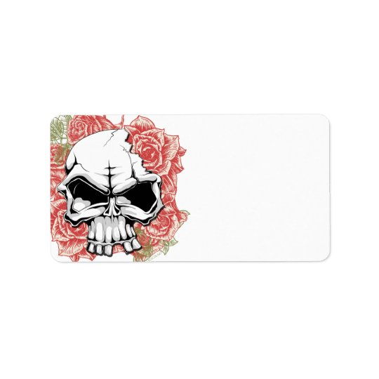Skull and Roses Label