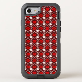 skull and roses OtterBox defender iPhone 8/7 case