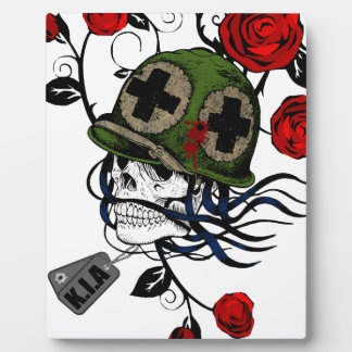 Skull And Roses Plaque