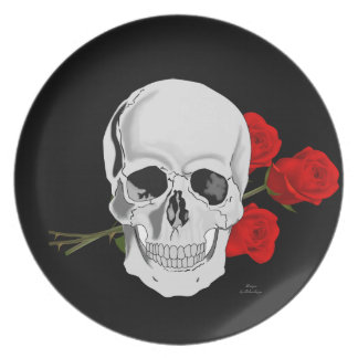 Skull and Roses plate