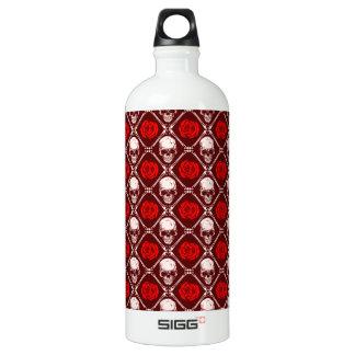 skull and roses water bottle
