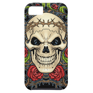 Skull and Roses with Crown Of Thorns by Al Rio iPhone 5 Cover