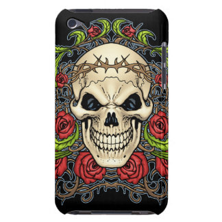 Skull and Roses with Crown Of Thorns by Al Rio Barely There iPod Case