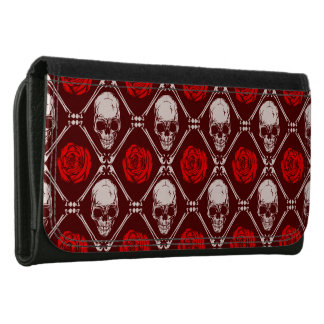 skull and roses women's wallets