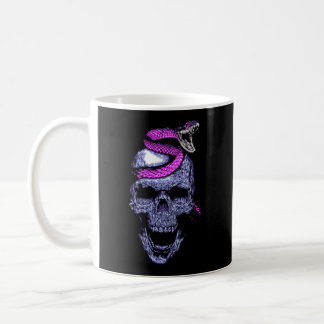 Skull and snake coffee mug