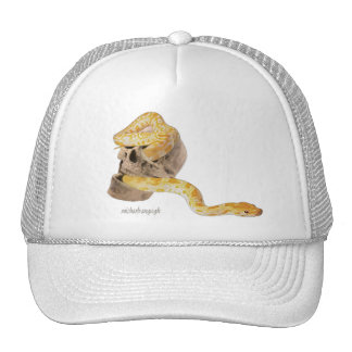 """Skull and Snake"" Truckers Hat"