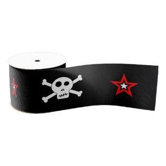 Skull and Stars Grosgrain Ribbon