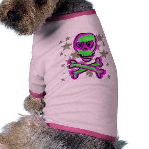 Skull and Stars Puppy Shirt Pet Tee
