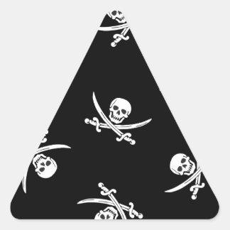 Skull and sword triangle sticker