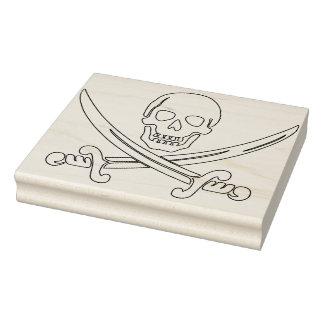 Skull and swords illustration art stamp