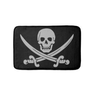 Skull and Swords Pirate Bath Mat