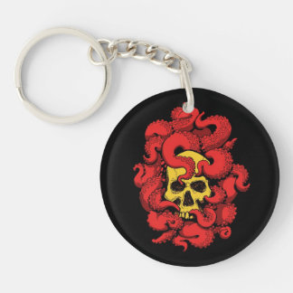 Skull and Tentacle Horror Keychain