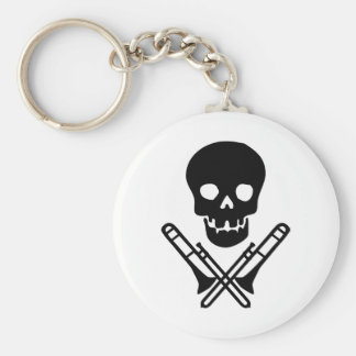 skull and trombones keychain