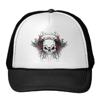 skull-and-wings cap
