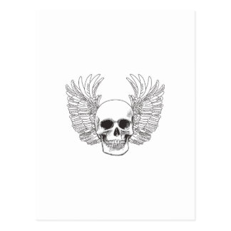 SKULL AND WINGS FILLED POSTCARD