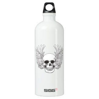 SKULL AND WINGS FILLED SIGG TRAVELER 1.0L WATER BOTTLE