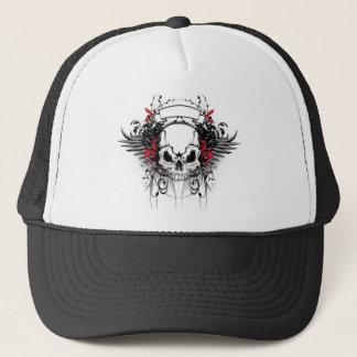 skull-and-wings trucker hat