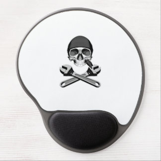 Skull and Wrenches (adjustable) Gel Mouse Pad